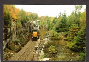 ON Algoma Central Railroad Train ONTARIO CANADA Carte Postale PC