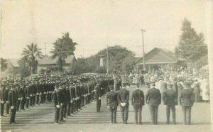 California Military Review Scene C-1910 RPPC Photo Postcard 20-13721