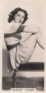 Margot Linder Hollywood Actress Rare Real Photo Cigarette Card