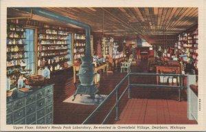 Edison's Menlo Park Lab Re-erected Greenfield Village Dearborn MI Vint Postcard