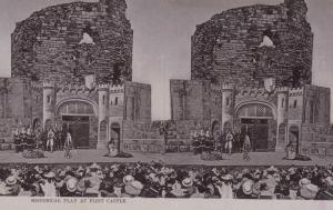 Stereoscope Postcard ; Historical Play at Flint Castle , UK , 00-10s ; TUCK 2218