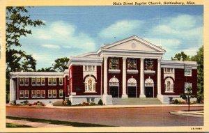 Mississippi Hattiesburg Main Street Baptist Church Curteich