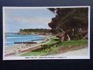 Australia Victoria POINT LONSDALE Beach - Old RP Postcard by Murray