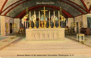 DC - Washington. Nat'l Shrine of the Immaculate Conception. Mary Memorial Altar