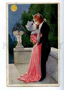 182480 Kiss of Lovers DRESSED Pussy CAT by THIELE Vintage PC