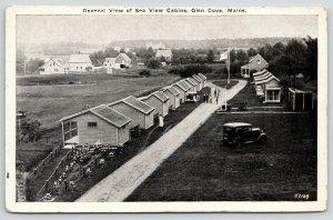 Rockland Glen Cove Maine~Birdseye Seaview Cabins~Farm Houses~Homes~1920s B&W PC