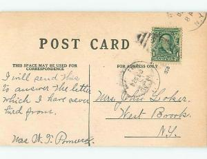 Bent Corner Divided-Back christmas XMAS MESSAGE IN THE HOLLY o3944