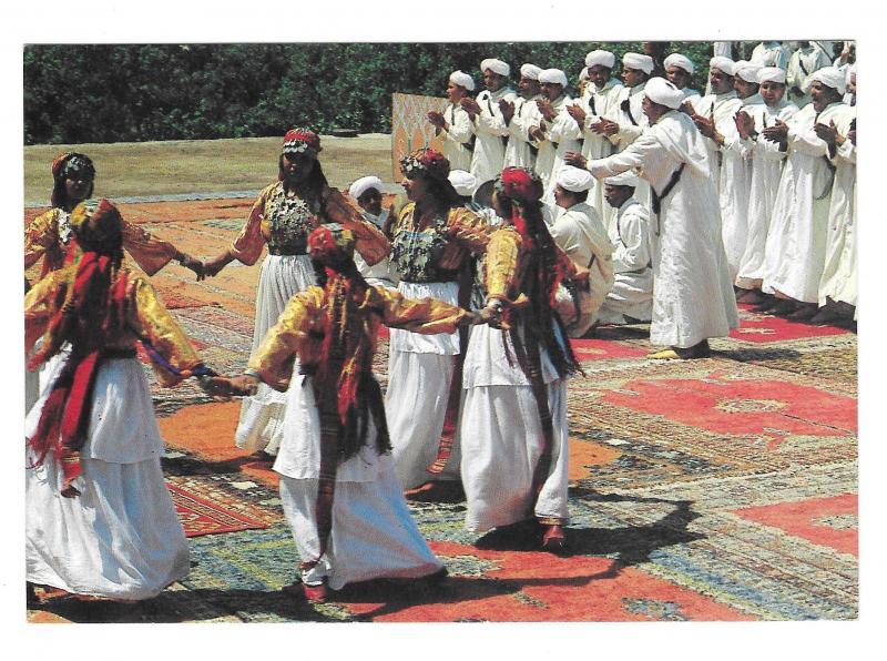 Africa Morocco Marrakesh Dancers Costume Zagora Marrakech Vtg Postcard 4X6