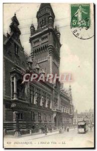 Old Postcard Dunkirk L & # 39Hotel City