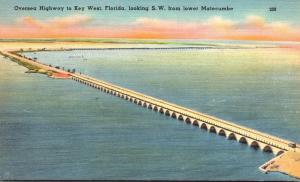 Florida Keys Overseas Highway To Key West Looking Southwest From Lower Matecumbe