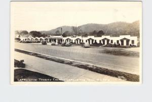 RPPC REAL PHOTO POSTCARD TENNESSEE LAFOLLETTE TOURIST COURT ESSO CLINE PHOTO