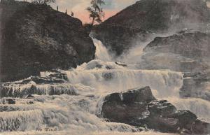 Fra Merok Norway Waterfalls Antique Postcard J40727