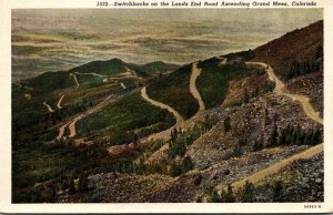 Colorado Switchbacks On The Lands End Road Ascending Grand Mesa