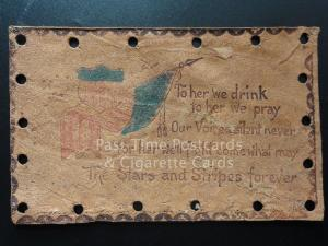 American Leather Postcard: THE STARS & STRIPES FOREVER, To her we drink. c1907