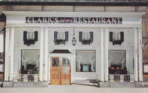 Exterior,  Clark's Colonial Restaurant,  Cleveland,   Ohio,  PU_1956