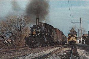 Port Dover Ontario CN E-10 Steam Engine Train Postcard