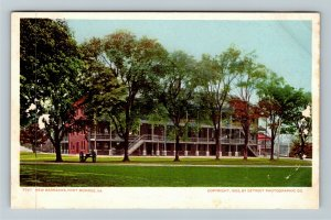 Fort Monroe VA-Virginia, New Barracks, Cannon, Grounds, Vintage Postcard