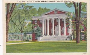 Virginia Hollins College The Charles L Cooke Memorial Library