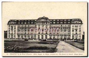 Old Postcard Deauville Plge Fleurie Hotel Royal