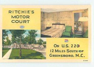 Linen MOTEL SCENE Greensboro North Carolina NC AD9734