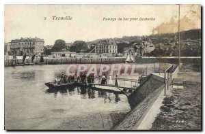 Old Postcard Trouville ferry boat Passage to Deauville