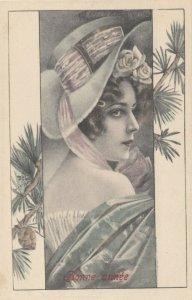 M.M.VIENNE : Female Head Portrait #3 , 1900-10s