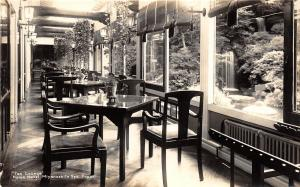 B86/ Miyanoshita Spa Japan Foreign RPPC Postcard c1920 Tea Lounge Fujiya Hotel