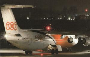 TNT Jet Airplane at Night , 80-90s