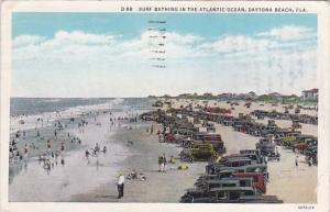 Florida Dayona Beach Surf Bathing In The Atlantic Ocean