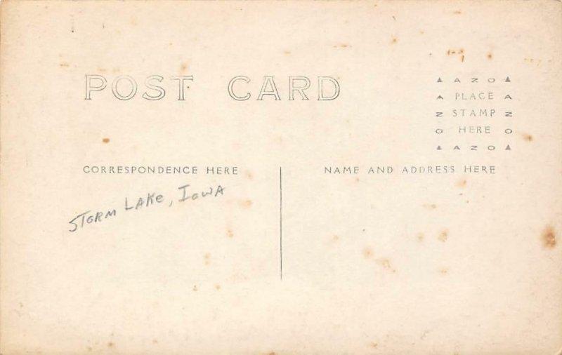 RPPC M.E. Church, Storm Lake, Iowa ca 1910s Vintage Real Photo Postcard
