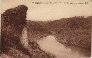 CPA CROZANT La Sedelle - Vue prise des Ruines du Chateau (1143805)