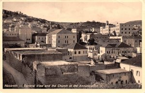 General View and the Church of the Annunciation Nazareth Israel 1937