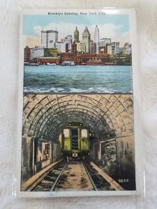 Antique Postcard entitled, Brooklyn Subway, New York City