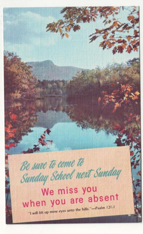 P81 JLs postcard be sure to come to sunday school