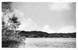 Adirondacks New York Third Lake Real Photo Antique Postcard K69490