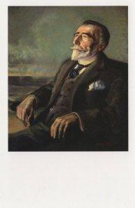 Joseph Conrad Of Heart Darkness Book Rare Painting Postcard