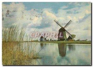 Modern Postcard Holland Moulins Wind