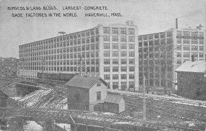 Burgess & Lang Buildings, Shoe Factories, Haverhill, MA Vintage c1910s Postcard