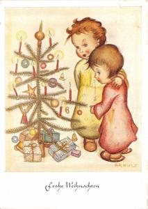 BG20718 fir branch children candle gift weihnachten christmas    germany