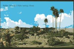 California PALM SPRINGS Home of Debbie Reynolds - pm1974 - Chrome