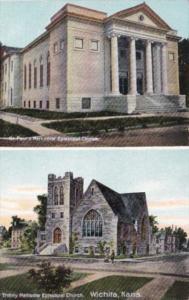 Kansas Wichita St Paul's Methodist Episcopal Church & Trinity Methodist Episc...