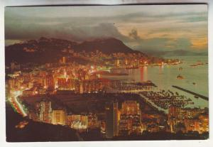 P717 Continental size approx (4 X 6) night view hong kong pearl of the orient