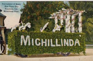 PASADENA , California , 00-10s ; Michillinda float , Tournemen of Roses Parade