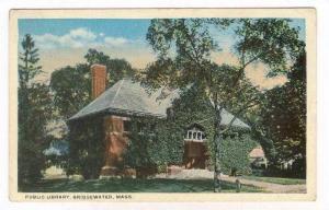 Public Library, Bridgewater, Massachusetts, PU-1922