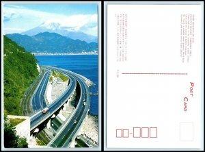 JAPAN Postcard - Tomei Highway, Mt. Fuji AU