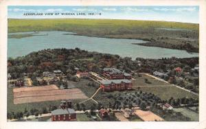 Winona Lake Indiana~Hotels? Fields~School Aerial View 1920s Postcard