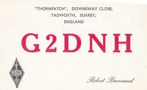 Tadworth Surrey QSL Amateur Radio 1960s Postcard
