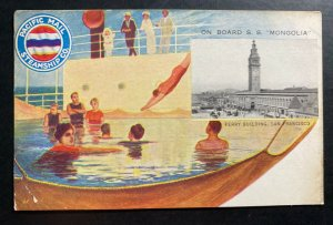 Mint Picture Postcard Pacific Mail Steamship Co SS Mongolia Passengers Ship B