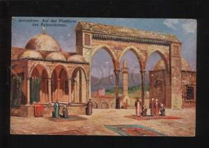 053355 Jerusalem platform of cathedral of rock Old