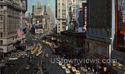 Times Square New York City NY Unused